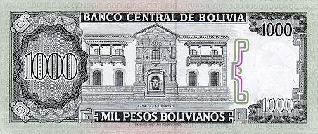 1 000 Peso Boliviano P167r