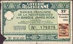 Algeria, 1/10 Franc,