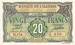 Algeria, 20 Franc, P-0103