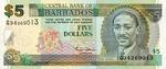 Barbados, 5 Dollar, P-0061