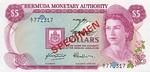 Bermuda, 5 Dollar, CS-0001