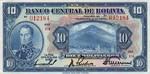 Bolivia, 10 Boliviano, P-0121a v2