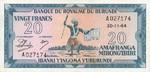 Burundi, 20 Franc, P-0010