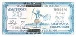 Burundi, 20 Franc, P-0015