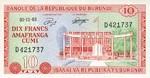 Burundi, 10 Franc, P-0020a