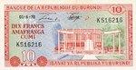 Burundi, 10 Franc, P-0020b