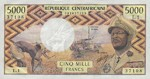 Central African Republic, 5,000 Franc, P-0003b