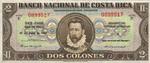 Costa Rica, 2 Colones, P-0201b v3