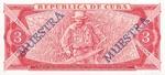 Cuba, 3 Peso, CS-0018