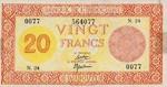 French Somaliland, 20 Franc, P-0015