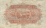 East Africa, 5 Shilling, P-0028b v6