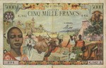 Equatorial African States, 5,000 Franc, P-0006a