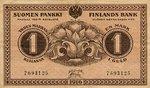 Finland, 1 Markka, P-0019 v1