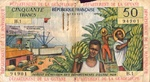 French Antilles, 50 Franc, P-0009a