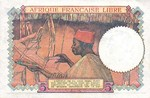French Equatorial Africa, 5 Franc, P-0006