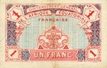 French Equatorial Africa, 1 Franc, P-0002a