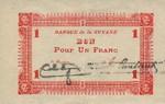 French Guiana, 1 Franc, P-0011