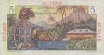 French Guiana, 5 Franc, P-0019a