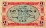 French Guiana, 2 Franc, P-0006