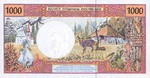 French Pacific Territories, 1,000 Franc, P-0002a