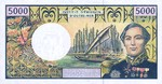 French Pacific Territories, 5,000 Franc, P-0003a