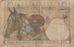 French West Africa, 25 Franc, P-0022