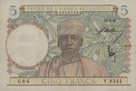 French West Africa, 5 Franc, P-0025