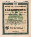 Germany, 100,000 Mark,