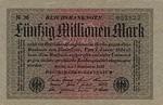 Germany, 50,000,000 Mark, P-0109a