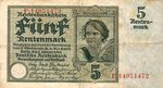 Germany, 5 Rentenmark, P-0169 v2
