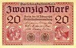 Germany, 20 Mark, P-0057