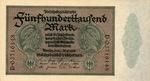 Germany, 500,000 Mark, P-0088b