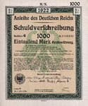 Germany, 1,000 Mark,