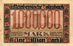 German States, 1,000,000 Mark, S-0986
