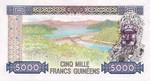 Guinea, 5,000 Franc, P-0033a