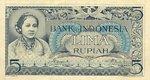 Indonesia, 5 Rupiah, P-0042