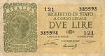 Italy, 2 Lira, P-0030a