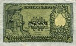 Italy, 50 Lira, P-0091a