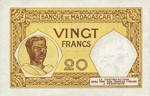 Madagascar, 20 Franc, P-0037 Sign.3