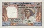 Madagascar, 10/50 Ariary/Franc, P-0051a