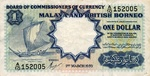 Malaya and British Borneo, 1 Dollar, P-0008a