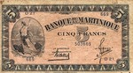 Martinique, 5 Franc, P-0016b Sign.1