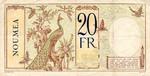 New Caledonia, 20 Franc, P-0037a