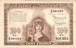 New Caledonia, 100 Franc, P-0044
