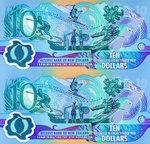 New Zealand, 10 Dollar, CS-0190b