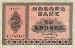 Norway, 2 Krone, P-0016b