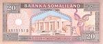 Somaliland, 20 Shilling, P-0003b