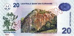 Suriname, 20 Dollar, P-0159s
