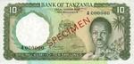 Tanzania, 10 Shilling, P-0002s