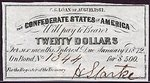 Confederate States of America, 20 Dollar,
